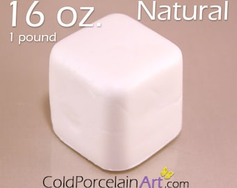 Cold Porcelain Clay 16oz. - Natural - Cold Porcelain Art
