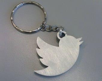 Twitter Bird, Aluminum Keychain