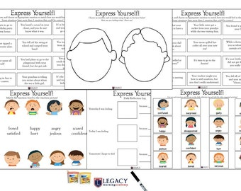 Emotion Activity, Express Yourself Lesson Plan, Behavior Management, Toddler Behavior Chart, Preschool Home School Curriculum, Legacy