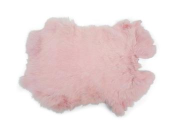 Dyed Premium Grade Spanish Rabbit Skin : Baby Pink (188-D-06) L29
