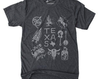 Texas Tee Shirt, Texas Tees, Mens Gift, Gifts for Men, Graphic Tee- Texas: