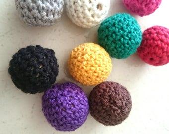 Beads woven inside wood