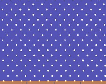 Windham Basic Brights - Small Dot in Blue / White - Bright Basics Cotton Quilt Fabric Dots - Windham Fabrics - 29400-9 (W4153)