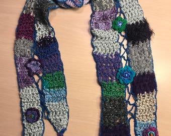 Multi seasonal jewel toned scarf