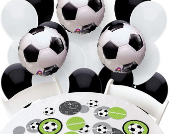 GOAAAL! - Soccer Balloon and Confetti Kit -  Soccer Print Balloon Bouquet and Confetti Kit for a Party