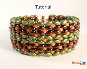 Superduo Bead Patterns - Beaded Bracelet Patterns - Beadweaving Patterns - Bracelet Tutorials - Beading Patterns - Butterflies In A Row