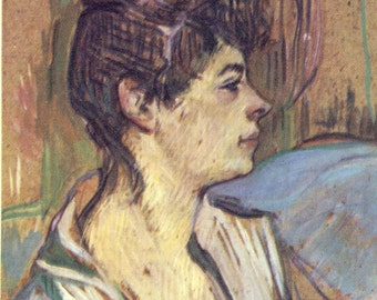 Toulouse-Lautrec - Marcelle to Frame or to use in Paper Arts, Collage, Scrapbooking and MORE PSS 2175