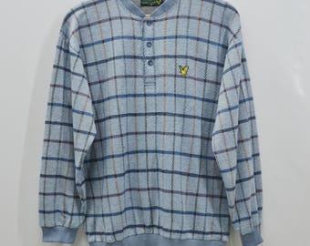 LYLE And SCOTT Sweatshirt Vintage Lyle & Scott Checkered Pattern Pullover Sweater Sweatshirt Size M