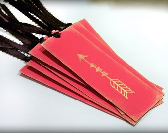 Love arrow Valentine tag Set 10 Handmade Wedding Wish Tree bridal shower Valentines bookmark