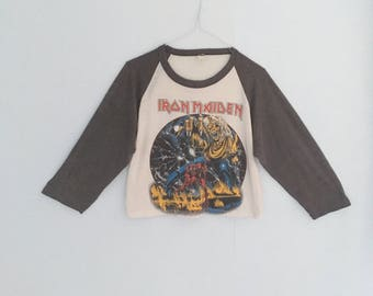 Iron Maiden Number of The Beast Vintage Concert Shirt Original 1982 Vintage Tshirt