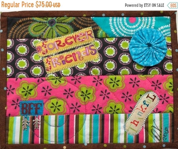 Hot Summer Sale Friendship #10 8x10 inch mini art quilt