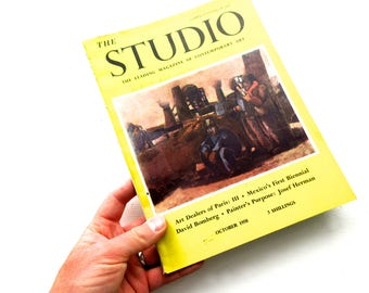 Vintage Mid Century 1958 Issue of The Studio with Original Advertising