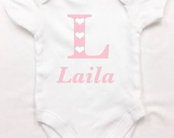 Princess baby bodysuit, any name girl or boy