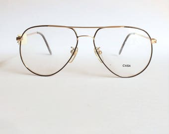 Deadstock vintage 1980's Casa 2205 B Aviator Glasses