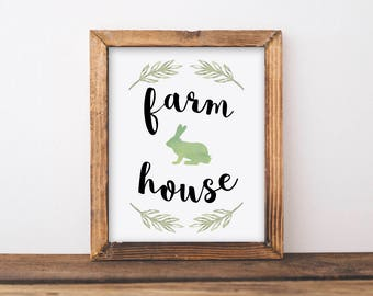 Farmhouse Printable Wall Art, Farmhouse Wall Decor, Farmhouse Sign, Farmhouse Print, Rustic Farmhouse, Farmhouse Art, 8x10, 5x7, 11x14