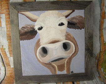 Original Acrylic Painting of a Cow