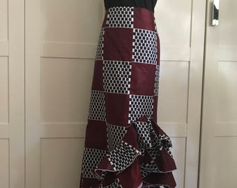 Ankara skirt with ruffles
