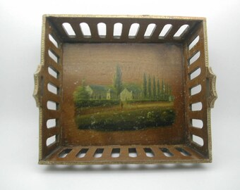 A Spa Work pin tray. c 1870