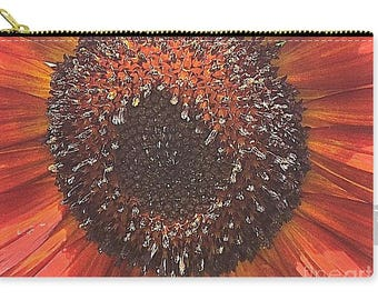 Carry-all Pouch Orange Sunflower