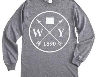 Homeland Tees Wyoming Arrow Long Sleeve Shirt