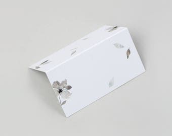 Grey watercolour Wedding Place Cards / Floral Wedding Place Cards / Watercolour Wedding Place Cards