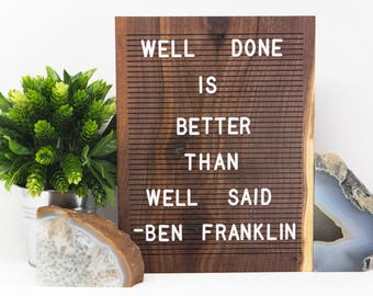 Wooden Letter Boards