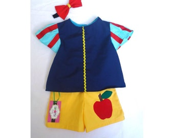 Snow White Costume - Princess Birthday Party - Set - Play Set - Princess Party - Princess Outfit - Snow White Outfit - Dress Up