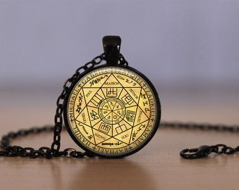 The Seven Archangels Pendant Necklace Michael Gabriel Raphael Uriel Samael Oriph