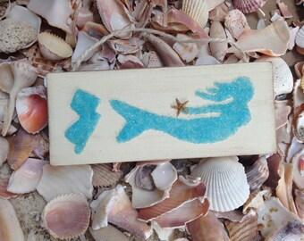 Mermaids, mermaid art, Coastal Decor, Coastal Art, Beach decor, Mermaid decor, Jersey Art,Jersey Mermaid, Mermaid Ornament