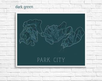 Park City Ski Map Print — Park City Utah Skiing