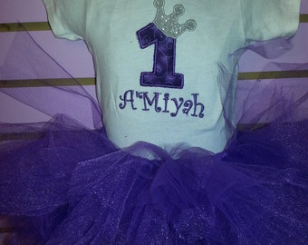 Personalized 1st Birthday Princess Outfit