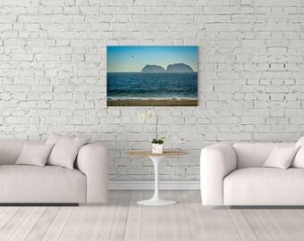 Dark Ocean Print, Dark Sea, Blue Ocean, Blue Sea, Ocean Photo, Coastal Canvas Art, Photography Print, Extra Large Wall Art, Huge Canvas Art