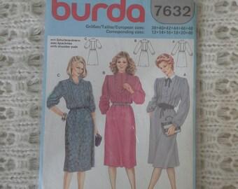 burda dress pattern size 12 to18 unused
