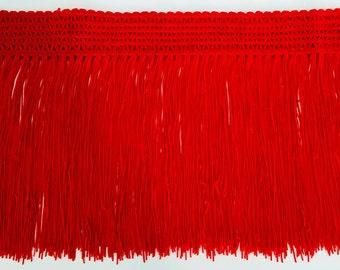 1 meter of charleston red fringe trim