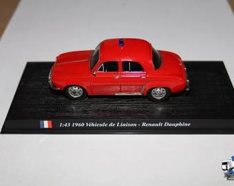 1/43 RENAULT - Dauphine Vehicule De Liason Fire Engine - Vigili del fuoco 1960