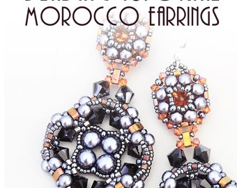 MOROCCO EARRINGS TUTORIAL / pdf instant tutorial