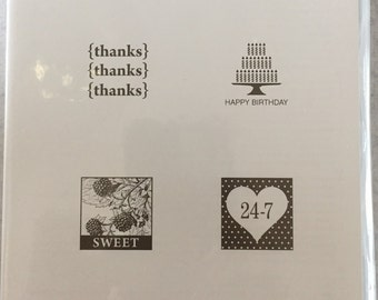 Stampin' Up Pretty Postage Clear Mount Stamp Set-