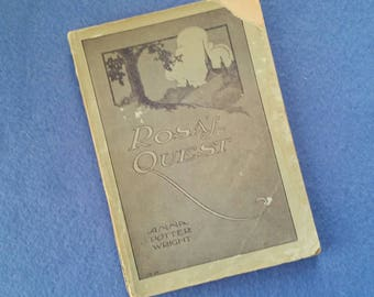 Rosa's Quest by Anna Potter Wright, Copyright 1905 by The Bible Institute Colportage Association, antique book illustrated cover