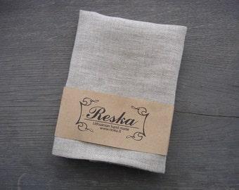 Natural linen color pocket square, groomsmen gift, wedding pocket squares for men, boys pocket squares, handkerchief, linen pocket squares
