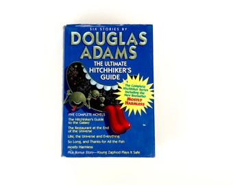 Ultimate Hitchhiker's Guide (to the Galaxy) 5 Novels by Douglas Adams plus Bonus Story - Hardcover Book - Mostly Harmless - Sci-fi Book Gift