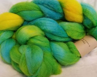 Blue Faced Leicester Hand Dyed Roving:  Pisces