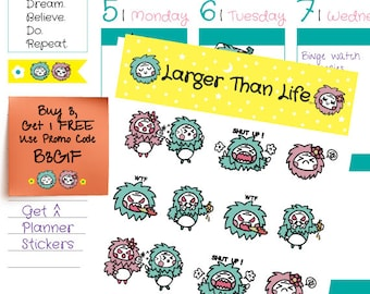 WTF! I'm So Mad! Planner Stickers (L5025)
