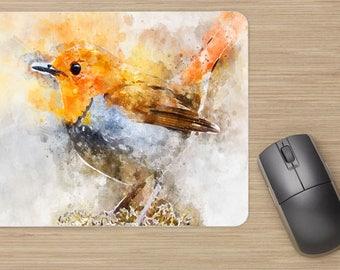 tapis de souris, oiseau,effet peinture, ordinateur, souris, matériel de bureau