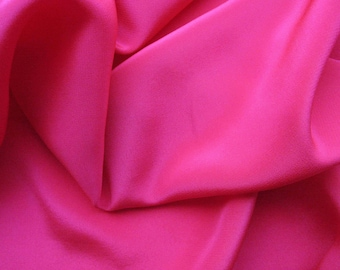 Silk Crepe De Chine in Vivid Fuschia!