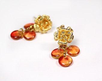 amber stud earrings orange jewelry honey earrings gold orange studs gifts for girls gold studs wife gifts/for amber studs drop studs пя50