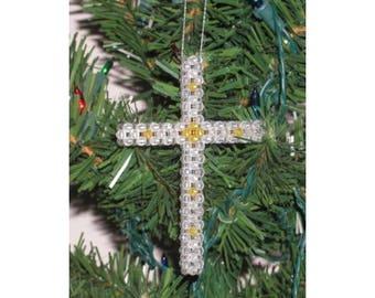 Christmas Cross - 3D Bead Art Pattern