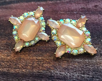 Reproduction Vintage Art Deco Style Post Earrings Costume Jewelry