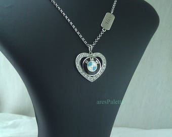 BMW Love Necklace-Handmade-925 silver