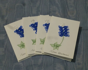 Texas Bluebonnet Tatted notecards