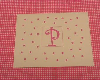 Lots of Dots Initial Note Cards